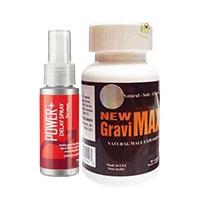Combo chống xuất tinh sớm New Gravimax và Power Delay For Men
