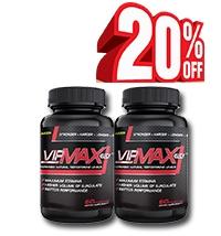 Giảm 20% giá trị sản phẩm khi mua combo 2 lọ Vipmax-rx
